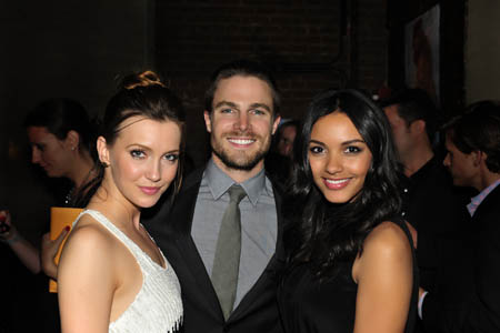 The Vampire Diaries stars party at The CW's Upfront presentation.